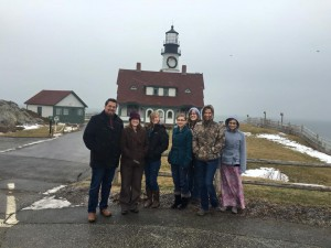 Members of RGF with Lee Dodd and his family Jan 2016 at the Portland Headlight.